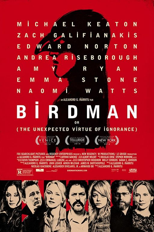 Birdman: Or (The Unexpected Virtue of Ignorance) (2014) (Rating 9,0) DVD8774+7044
