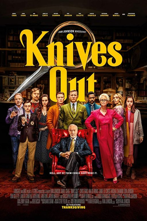 Knives Out (2019) (Rating 8,0) (Coming Soon on DVD at Filmkunstbar Fitzcarraldo)